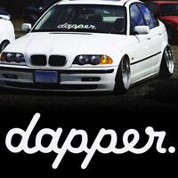 White Certified Tie Dapper vinyl sticker car van lorry windscreen decal window