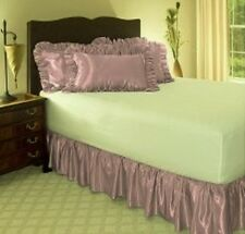 "14"" Drop Solid Easy Fit Set Up Pleated Corners 1 Pc Bed Skirt Lavander King"