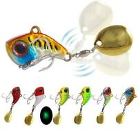 Metal Mini VIB With Spoon Fishing Lure Winter Ice Lures Crankbait Tackle Fi I5B9