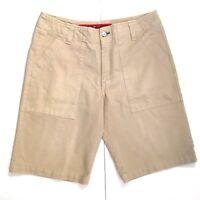 Tommy Hilfiger Mens Shorts 34 Beige Denim Casual Excellent Condition