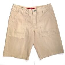 Tommy Hilfiger Mens Shorts 34 Beige Denim Casual Excellent Condition