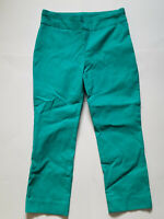 Chicos So Slimming green pull on capri cropped pants size 00P Inside Pocket