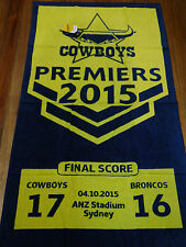 NRL NORTH QUEENSLAND COWBOYS 2015 PREMIERS BEACH TOWEL 150x74cm - with tags