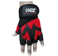 Leather Gym Gloves Weight Lifting Gloves Body Building Training Exercise Fitness