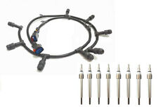 2004-2010 Ford 6.0L Diesel Glow Plug Harness Right & Left & 8 Glow Plugs Kit
