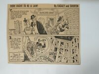 VTG Newspaper Cartoon Comic 9/13/1954 THERE OUGHT TO BE A LAW By Fagaly Shorten