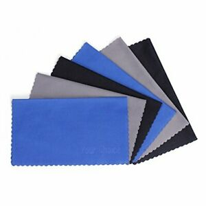 Your Choice Microfiber Cleaning Cloths 6 Pack for Eyeglasses Camera Lens Cell...