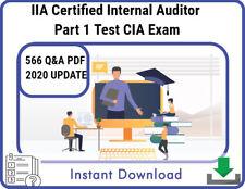 IIA Certified Internal Auditor Part 1 Test CIA Exam QA PDF 2020
