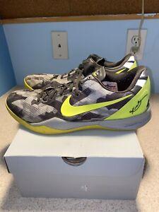 NIKE KOBE 8 VIII System 555035-063 Grey Camo Volt Men Basketball Shoes US 11.5