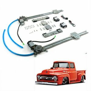Chevy Truck 55-59 2-Door One Touch Flat Glass power window Motor kit Pickup 3100