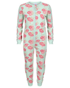 GIRLS ONEZEE ALL IN ONE EX UK STORE SLEEPSUIT COTTON JERSEY 2 3 4 5 6 7 8Y BNWT