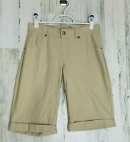 HUE Women's Tan Essential Denim Boyfriend Shorts Size Small NWT