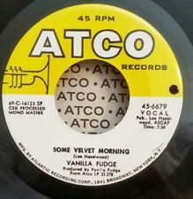 "Vanilla Fudge Atco 6679 ""SOME VELVET MORNING"" (GREAT ROCK & ROLL) 45 SHIPS FREE"