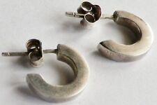 boucles d'oreilles percées vintage clous petit anneau argenté 283