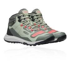 Keen Womens Tempo Flex Waterproof Walking Boots Green Sports Outdoors Breathable