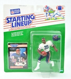 NEW 1989 Kenner NFL Starting Lineup SLU Neal Anderson Chicago Bears D