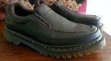 "EUC Dr. Martens ""Utah"" Men's Size 10 Brown Leather Apron Toe Loafers Romeo Nice!"