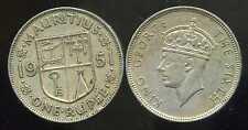 ILE MAURICE  one 1  rupee  1951