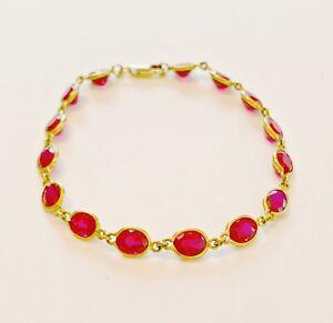 12kt Gold Ruby Bracelet