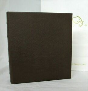 Graphic Image Photo Album Large 10x12 Ring Binder Clear Pockets Brown