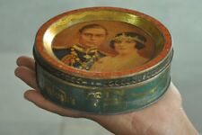Vintage Mackintosh's Toffee George VI & Queen Picture Litho Tin Round Box,London
