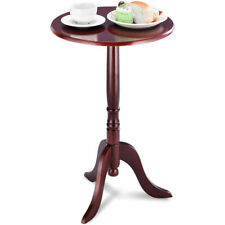 Classic Round Accent Table End Table Tea Side Table Home Mahogany