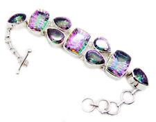 cute Mystic Quartz 925 Sterling Silver Multi Bracelet Natural supplies US