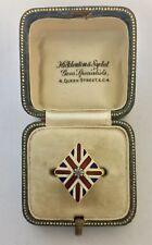 Un magnífico Esmalte Union Jack & Diamante Anillo Circa década de 1800