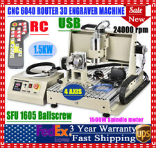 4 Axis 6040 USB CNC Router Engraving Machine Carving Engraver Milling 1500w