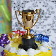 "Gold Trophy Cake Topper 4"" Game Award Winner Trophies Cup Birthday Team Topper"