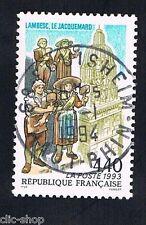 1 FRANCOBOLLO FRANCIA TURISTICA ANNIVERSARIO DELL'OROLOGIO 1993 usato
