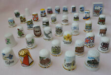 THIMBLE COLLECTION 30+ SOUVENIR ENGLAND WALES UK TOWN HERTIAGE SPITFIRE 3 AUGUST