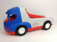 "Little Tikes Rugged Riggz Race Car Hauler 18"" Heavy Duty Tow Truck Semi Truck"