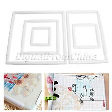 Plastic Square Rectangle Clip Cross Stitch Hoop Embroidery Frame DIY Craft Tool