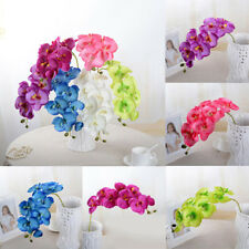 70cm Artificial Fake Silk Flower Phalaenopsis Butterfly Orchid Home Party Decor