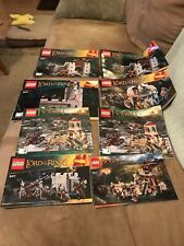 Lego Lord of the Rings Hobbit MANUAL Book LOT ONLY 9474 9472 9471 79012 79017
