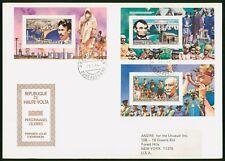 Mayfairstamps Haute Volta 1984 Celebrities Souvenir Sheet combo First Day Cover
