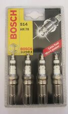 CANDELA 514 HR 78 BOSCH Super 4 x Accensione Potente Automobile CANDELE BOSCH
