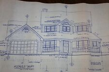 Blueprint House Plan  2-story 1679 sq ft; 3 bdrm, 2.5 bath, garage,Reverse Set