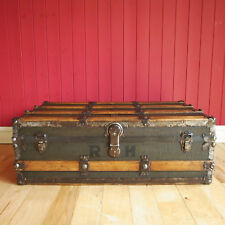 VINTAGE STEAMER TRUNK Coffee Table STORAGE CHEST Antique Travel Trunk RUSTIC BOX