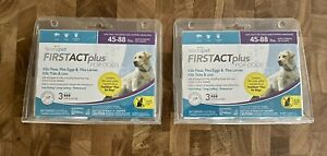 TevraPet FirstAct Plus for Dogs 45-88 lbs, 6 doses 2 NEW Packs