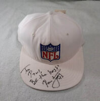 RONNIE LOTT AUTOGRAPHED NFL SHIELD HAT (WHITE)  ~NWT~ PERSONALIZED NO COA