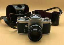 Vintage 1965 Miranda F 35mm Camera w/ Soligor 50mm f1.9 Prime Lens & Case Excel