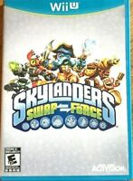 * Nintendo Wii U Activision Skylanders Swap Force Game Case Art               👾