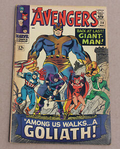 AVENGERS #28 First appearance of THE COLLECTOR! Goliath!
