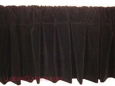 Window Treatments Black Rod Pocket Curtain Topper Velvet Valance Panel Drapes