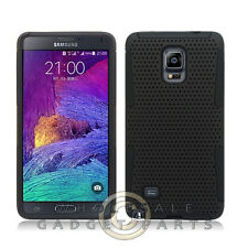 Samsung Galaxy Note 4 Hybrid Mesh Case Black Cover Shell Protector Guard Shield