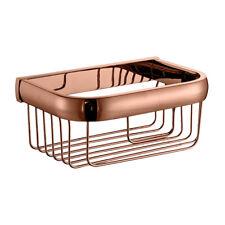 Bathroom Copper Shower Shampoo Conditioner Organizer Basket Storage Holder