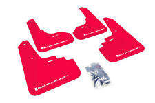 RallyArmor Red Mud Flaps (White Logo) for 05-09 Subaru Legacy & Outback