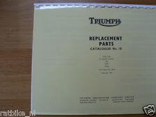 T0014 TRIUMPH---REPLACEMENT PARTS CATALOGUE NO 10 TIGER CUB---A RANGE MODELS T20
